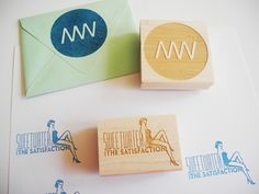 Custom Logo, Illustration, or Design Rubber Stamp | Paper Pastries 4x6 custom made rubber stamp $92.00