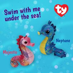 Find NEW Beanie Boo Neptune and Beanie Baby Majestic Seahorses in stores and online now!