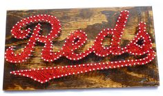 Cincinnati Reds String Art Cincinnati Reds Sign by ABUnderwoodCo2