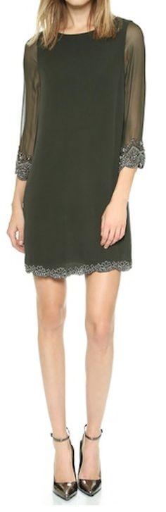 deep moss embellished dress http://rstyle.me/n/qq386pdpe