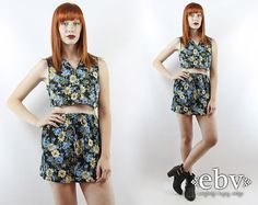 Matching Two Piece Outfits  by Nina Kaitlan on Etsy #matchingtwopieceoutfit #bohochic #90s #70s #dresses #floraldress #midiskirt