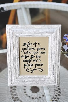 Cute guest sign-in idea photographed by http://www.zadesignz.com/  #weddingdetails #weddingguestbook
