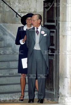 WEDDING OF LADY SARAH ARMSTRONG JONES TO DANIEL CHATTO AT CHURCH OF ST STEPHEN, WALBROOK, BRITAIN - 1994 Princess Diana AND Prince Philip 1994