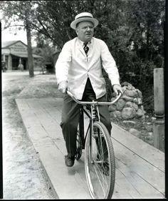 W. C. Fields - taking a leisurely bike ride