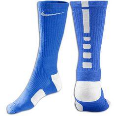 Nike Elite Basketball Crew Sock - Mens - Royal Blue/White