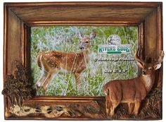 """River's Edge Deer Frame 4 x 6"""" Photo Hunting Picture Wildlife Rustic Cabin New  #RiversEdgeProducts"""