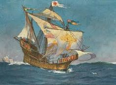 """The """"Matthew"""" was a fast and able ship weighing 50 tons, with a crew of 18 men. It was on this ship that Cabot sailed North West, eventually finding the east coast of North America after 50 days. The Matthew's logs are incomplete, but John Cabot is believed to have gone ashore with a small party, claiming the land for the King of England."""