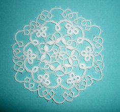 tatted cluny doily