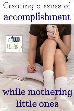 Creating a sense of accomplishment