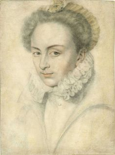 Daniel Dumonstier (1574–1646), A Portrait of a Young Woman in a Ruffled Collar. Medium: Black chalk and pastel, 10 ¼ x 7⅝ in. (260 x 192 mm). Photo: Courtesy of L'Antiquaire and The Connoisseur.