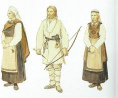 Quite similar to Slavic costume. Celtic Clothing, Medieval Clothing, Viking Men, Viking Warrior, Ancient Vikings, Norse Vikings, Larp, Loki Cosplay, Viking Reenactment