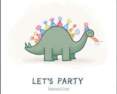 dinosaur birthday card stegosaurus party