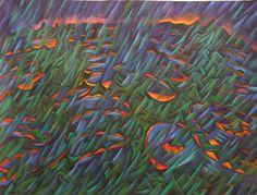 Dean Buchanan, The Sounds, oil on unstretched canvas. Dimensions: x (canvas size), x (image size). Canvas Size, Dean, Oil, Shape, Fine Art, Painting, Art Pictures, Painting Art, Paint