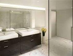 marble floor, wooden vanity