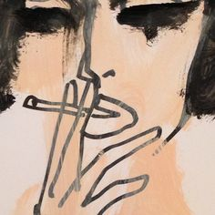 'Black Bob and Cigarette', Donald Drawbertson, fashion illustration.
