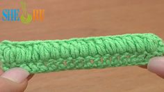 How to Crochet Puff Stitch Second Way Tutorial 37 Part 2 of 3 Crochet Basics  http://sheruknitting.com/videos-about-knitting/crochet-for-beginners/item/217-how-to-crochet-puff-stitch.html Crochet online tutorials for beginners. Learn how to work a puff stitch with our detailed video instructions.   There are three ways to make a puff stitch. In this second part of our video tutorial we show you the other way to work a puff stitch where only one top stitch on a row belongs to a puff.