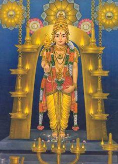 He is quintessentially intelligent, brave and perfection personified and is the god of war and victory. Shiva Hindu, Shiva Shakti, Hindu Art, Indian Goddess, Durga Goddess, Divine Goddess, Yashoda Krishna, Lord Murugan Wallpapers, Lord Ganesha Paintings