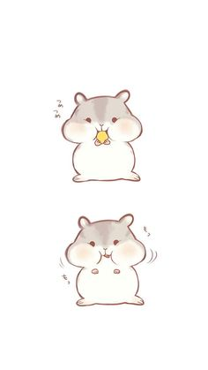 Cute Animal Drawings Kawaii, Kawaii Drawings, Cute Drawings, Hamster Cartoon, Baby Hamster, Cute Rats, Cute Hamsters, Hamster Wallpaper, Chibi Panda