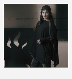 Gina - 100% Cashmere - Whip Stitch Poncho. Available in multiple colors.