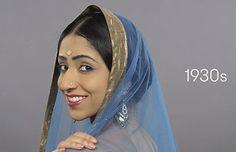 Video: Modelo encarnó 100 años de belleza india en poco más de un minuto | Cultura India