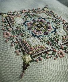 Embroidery Project with Cross Stitch- Papillon 2009 SAL, Castles in the Air,