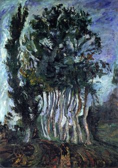 Chaim Soutine. 'Trees at Champigny'. Oil on canvas. 1942 - 43.