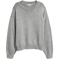 H&M Knit Sweater $14.99 (19 AUD) ❤ liked on Polyvore featuring tops, sweaters, h&m, knit top, h&m sweaters, drop shoulder sweater, drop shoulder tops and knit sweater
