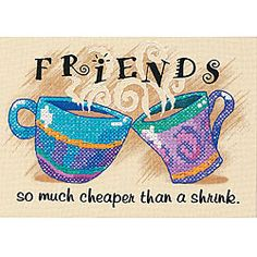 Cheaper Than A Shrink' Stamped Cross Stitch Kit - Overstock ...