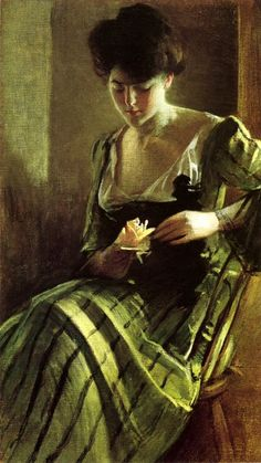 John White Alexander 1856-1915-A Rose