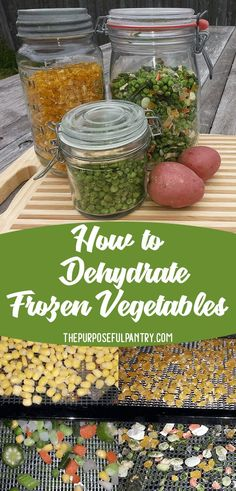 Dehydrate Frozen Vegetables Dehydrate Frozen Vegetables – learn how to declutter your freezer and provide great food in your extended pantry…and one secret tip on how to make it even more versatile! Dehydrated Vegetables, Dried Vegetables, Dehydrated Food, Frozen Vegetables, Veggies, Canning Recipes, Raw Food Recipes, Canning Tips, Health Recipes