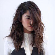 Medium Chopped Brunette Hair