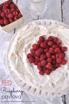 Red Raspberry Pavlova