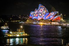 The fifth annual Vivid Sydney Festival commenced last night with a stunning display of colour, movement and world-class lighting artistry.