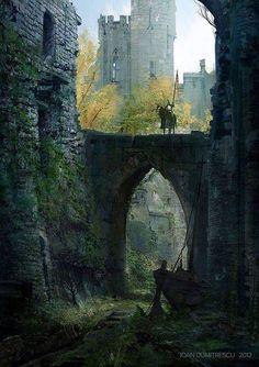 Hermitage Bridge Perthshire, Schottland www. Hermitage Bridge Perthshire, Schottland www. Fantasy Castle, Medieval Fantasy, Medieval Castle, Castle Ruins, Fantasy Places, Fantasy World, Fantasy Kunst, Fantasy Setting, Environment Concept