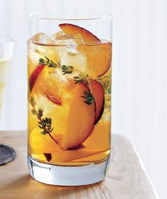Iced Tea With Plums and Thyme