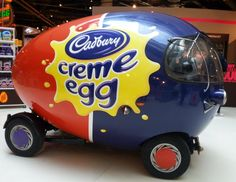 The Cadbury Creme Egg Car!