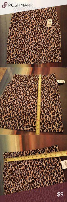 Charlotte Russe Leopard Print Skirt Charlotte Russe Leopard Print Skirt  NEW WITH TAGS, never worn  18 1/2 length  14 1/2 waist width  Stretch fit Charlotte Russe Skirts