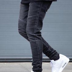 Biker jeans via @marcwenn at www.marcwenn.com