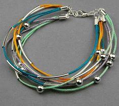 Perles&Accesoires: Fabriquer un bracelet multi-brins coloré en cordon...