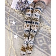 Knitted Socks by Viktoria Zmeyka. Pattern for purchase. Id love to crochet these! Crochet Leg Warmers, Crochet Socks, Knitting Socks, Hand Knitting, Knit Crochet, Knit Socks, Knitting Designs, Knitting Projects, Knitting Patterns