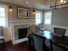 Benjamin Moore Smoke - dining room