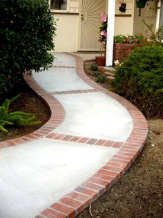 I found this via Matt (vcahmco) He also likes the brick accents. Concrete is such a terrific material for zero egress entry. The use of the bring on the outside livens it up without increasing cost much or decreasing safety. @Gail Zahtz