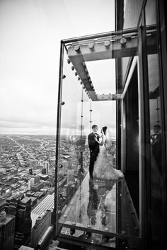 Sears Tower reception at the Metro Club. Love it. Photography By / cristinagphoto.com, Event Planning By / justsayyesevents.com, Floral Design By / flordelmonte.com