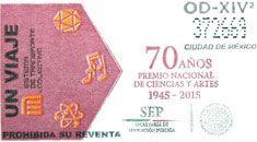 Para conmemorar 70 años del Premio Nacional de Ciencias y Artes, el Sistema de Transporte Colectivo emitió un tiraje especial de boletos, el 04 de diciembre.
