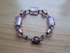 Pink beaded bracelet by SecChnceTreasure on Etsy, $10.00