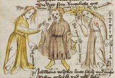 Thomasin <Circlaere>   Welscher Gast (b) Nordbayern (Eichstätt?), um 1420 Cod. Pal. germ. 330 Folio 16v