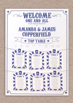 Carnival Wedding Table Plan but in coral and mint colours