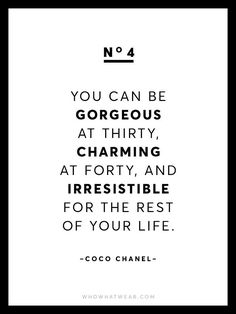 #thirty #forty #CocoChanel