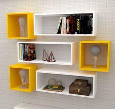 Corner Wall Shelves, Wall Shelf Decor, Shelf Design, Easy Projects, My Room, Home Interior Design, Office Decor, Decoration, Living Room Decor