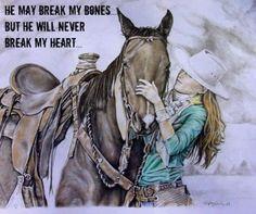 He may break my bones, but he will never break my heart